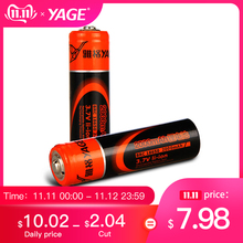 YAGE Original 18650 Lithium Rechargeable Battery 3.7V 1500mAh/2400mAh  li-ion Batteries Bateria Litio for LED Flashlight Toys