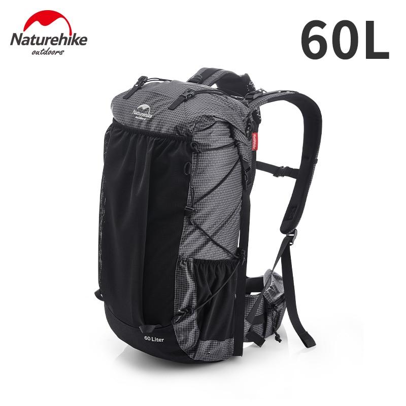 Naturehike Outdoor Bag 60L Waterproof Climbing Backpack High Capacity Sports Bag Men/Women Ultralight Hiking Travel Backpack