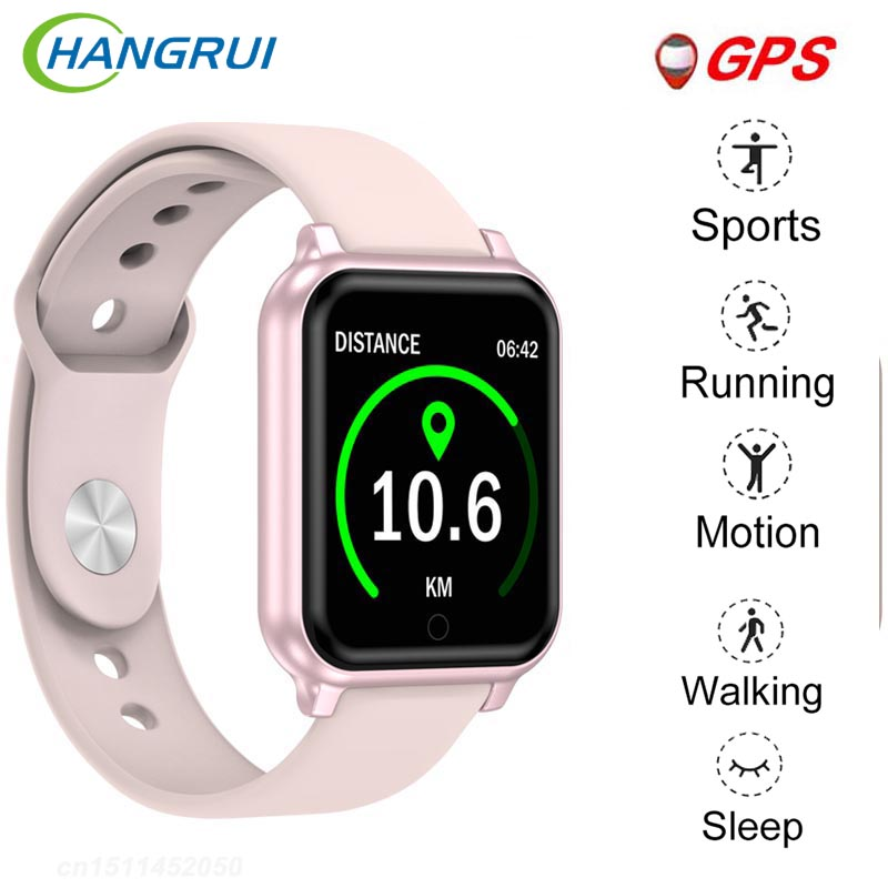 B58 Bluetooth Smart Watch Waterproof Sport <font><b>Smartwatch</b></font> Heart Rate Fitness Tracker Women Man GPS <font><b>SmartWatch</b></font> PK B57 P80 <font><b>P70</b></font> IWO8 image