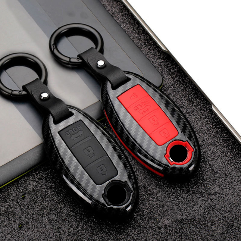 Carbon Fiber Matte Car Key Cover Case For Nissan Qashqai J10J11 X-Trail T31t32 Kicks Tiida Pathfinder Murano Note Juke Infiniti