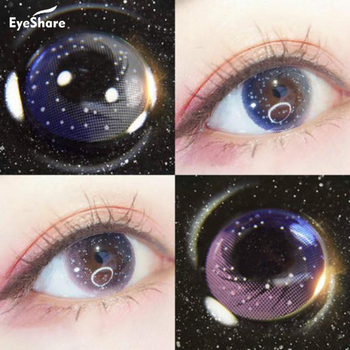 EYESHARE 1 Pair  Galaxy Starry Sky Contact Lens Cosmetic Makeup 3 Color Contact Lenses Eyecolor