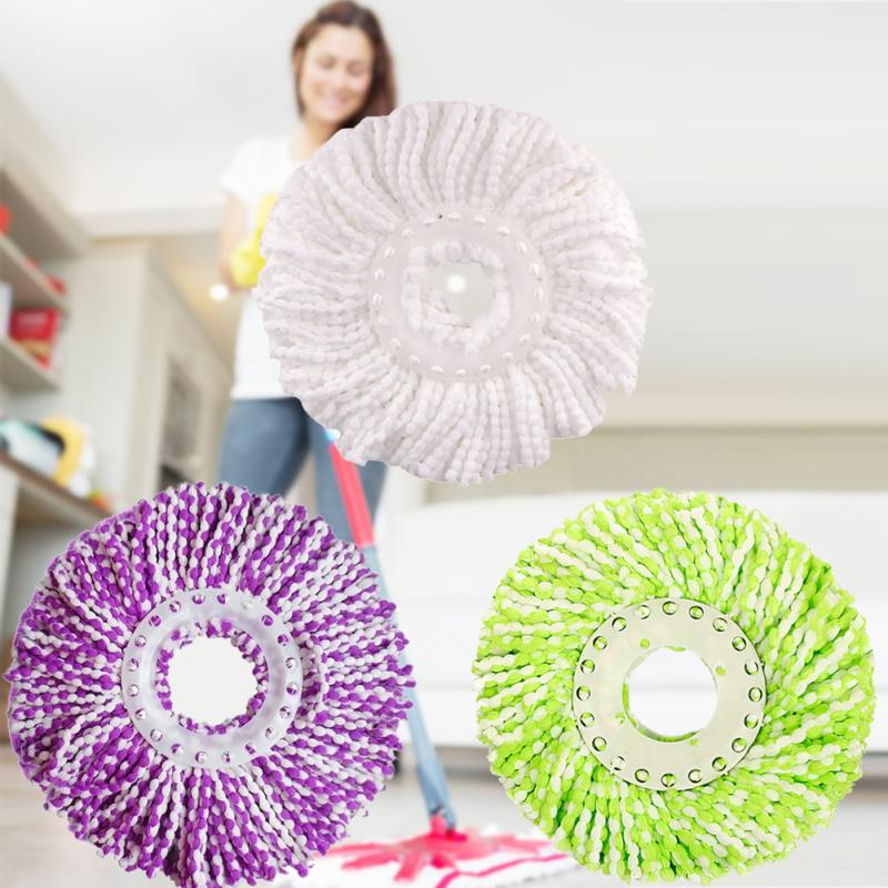 360 Rotating Head Microfiber Spinning Floor Mop Replacement Spin Mop Clean Head Dry Home Cleaning Tools Refill Mop Accessories