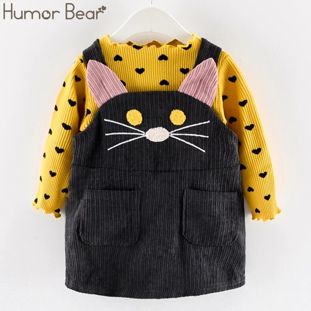 Cute Cat Strap Clothes Sets for Girls 1