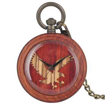 Classic Quartz Wooden Pocket Watch Women Owl Pattern Dial Men Pendant Necklace Gift Warcraft reloj de bolsillo hombre
