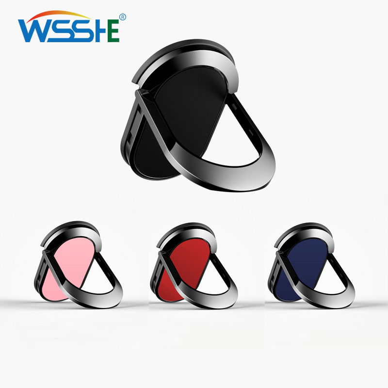 360 Degree Phone Ring Holder Stand For IPhone X XS Samsung Huawei Stand Holder Smartphone Finger Ring Holders Car Mount Stand