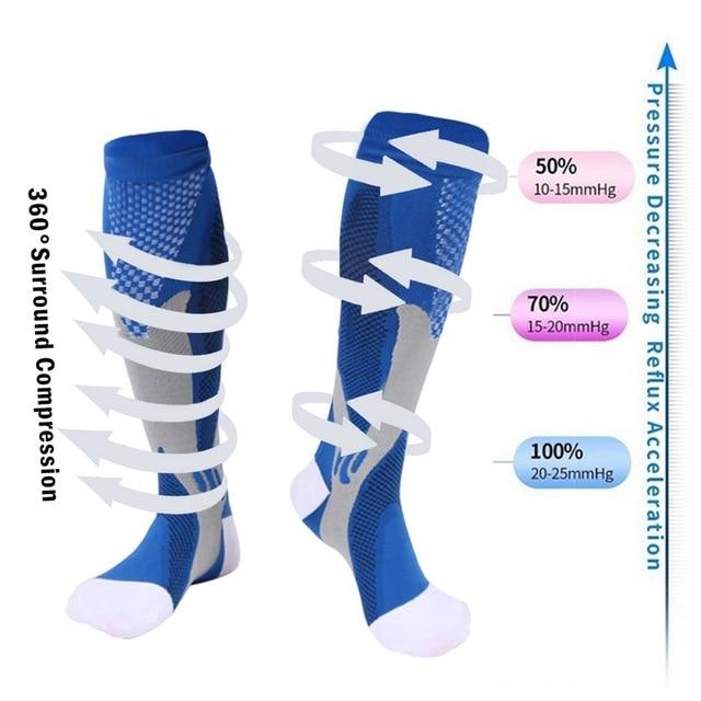Meias de compressão meias de enfermagem médica de náilon especializada ciclismo ao ar livre de secagem rápida respirável adulto meias esportivas 4