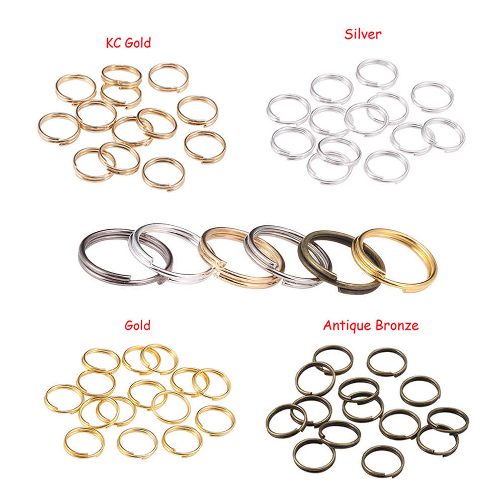200pcs/lots 4-14mm Open Double Loops Circles Split Jump Rings Keyring Link Circle DIY Key Chains Jewelry Connectors Accessories