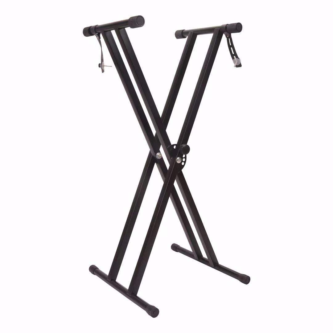X Shape Electronic Piano Iron Stand Bracket For 61-88 Key Electric Piano/ Zither With Standard Lifting Scale