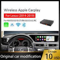 Stecker und Play Wifi Drahtlose CarPlay Android auto für Lexus Auto Spielen 2014 Multimedia player Für iphoe Android IOS 13 airplay