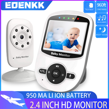 Video Baby Monitor with Camera and Audio - Auto Night Vision,Two-Way Talk, Temperature Monitor, ECO Mode, Lullabies, 960ft Range