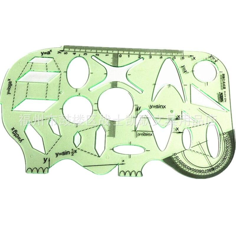 Elephant Ruler School Accessories 2 PCS/Lot Mathematics Study Template Ruler