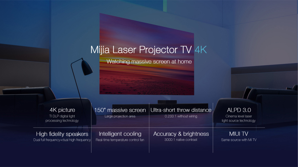 Mi 4K Laser Projector 150''