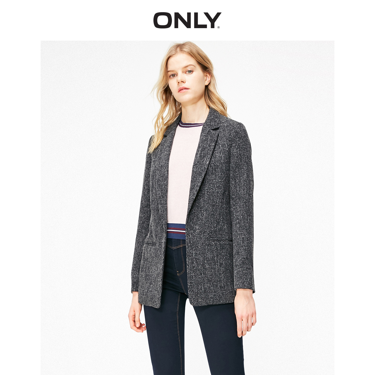 ONLY  Women's Grey Suit Jacket | 119308514