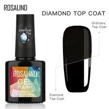 ROSALIND Gel Polish Diamond Nail Top Coat All For Manicure Matte Top Nails Fundation Base Primer 10ml Gel Varnishes Nail Art