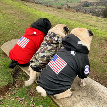 Hot Pet Dogs Clothes Raincoat for Puppy Small Big Dogs Clothing French Bulldog Clothes Pug Hoodies Dog Windbreaker Jacket S-5XL