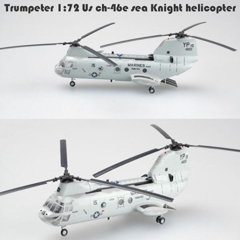 Trumpeter 1:72  Us Ch-46e Sea Knight Helicopter  37000 Finished Product Model