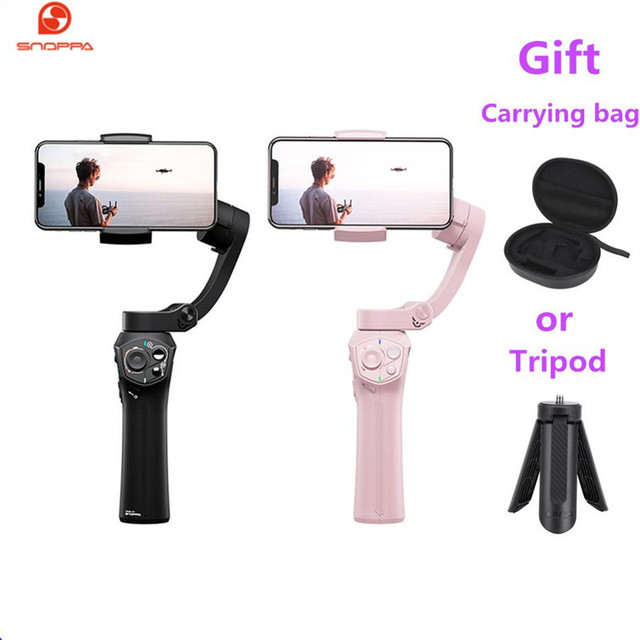 Hot Snoppa Atom 3 Axls Foldable Pocket Sized Handheld Gimbal Stabilizer Folding Stabilizer for iPhone for GoPro with charging