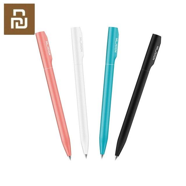 4 renk Nusign işareti kalem jel kalem ABS 0.5mm siyah renkli mürekkep PREMEC pürüzsüz İsviçre dolum kalemler okul ofis için