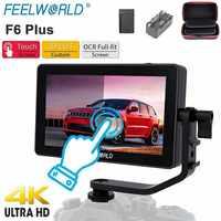 FEELWORLD F6 Plus 5,5 pulgadas DSLR Cámara Monitor de campo 3D LUT pantalla táctil 4K HDMI IPS FHD 1920x1080 Monitor para la cámara