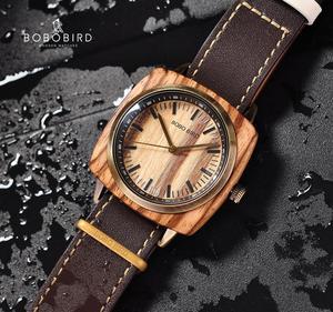 Image 2 - Reloj hombre bobo bird 남자 시계 럭셔리 브랜드 우드 방수 시계 남자 친구 dropshipping을위한 크리스마스 선물