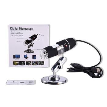 Przenośny rozmiar led cyfrowy mikroskop USB kamera endoskopowa mikroskop lupa mikroskop elektroniczny ze stojakiem tanie i dobre opinie OUTAD 500X-1500X USB Microscope plastic Wysokiej Rozdzielczości Handheld PORTABLE Monokularowy 500X 1000X 1600X 110x30mm