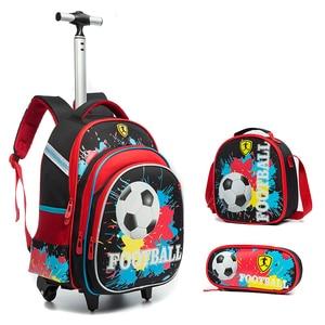 New 3PCS Trolley School Bags F