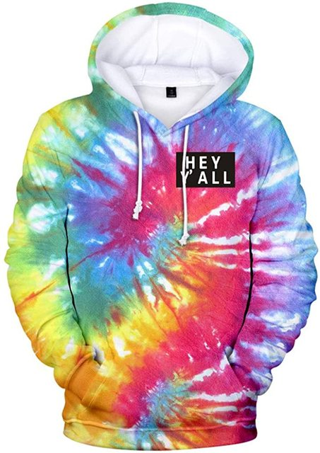 2020 Addison Rae: Hey Y'all Tie Dye 3D Hoodie Men/Women Casual Fashion Long Sleeve Hoodies Sweatshirts Tops Outwear Tracksuit 1
