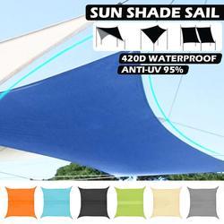 2-5M Tenda Da Sole A Vela Panno Impermeabile 420D di Campeggio Esterna Yard Ripari per il sole Da Giardino Patio Tenda A Baldacchino Protezione Solare Anti-Uv blocco