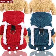 Dog Clothes Winter Clothing for Small Medium Dogs Pet Clothes Winter Warm Thicken Hoodie Jumpsuit Dog Clothes Winter Large Coat цена в Москве и Питере