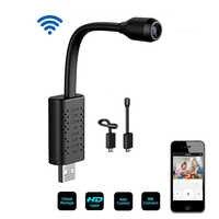 Mini cámara web V380 pro con USB, 2MP, Wifi, red IP inteligente, 1080P, P2P, con tarjeta SD, almacenamiento en la nube, CCTV, cámara de vigilancia para el hogar