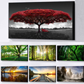 Green Forest Landscape Trees Canvas Painting Posters and Prints Cuadros Wall Art for Living Room Home Decor