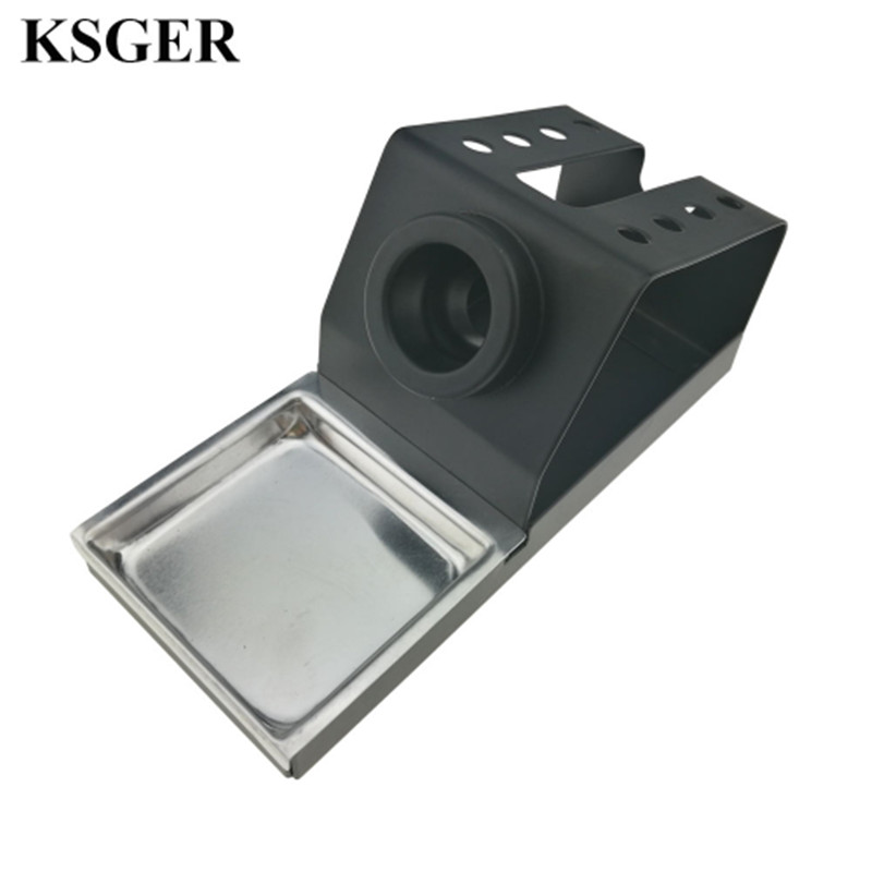 KSGER DIY Soldering Iron Station Stand T12 Holder Welding Iron Tips STC STM32 Metal Handle Aluminum Alloy Tools High Quality