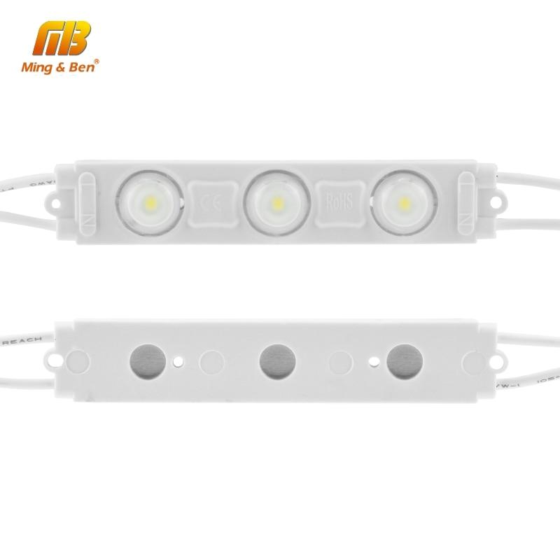 LED Module Light 220V 3LED Injection LED Module White 5PCS 10PCS 15PCS 20PCS/lot Super Bright Professional Wall Kitchen Light 1