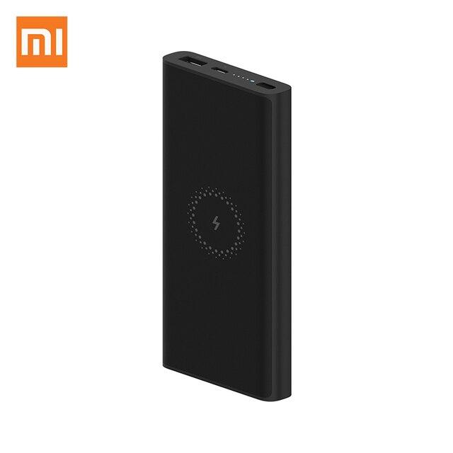 Xiaomi sans fil batterie dalimentation 10000mAh jeunesse WPB15ZM USB C Mi Powerbank 10000 Qi rapide sans fil chargeur Portable charge pauvreté