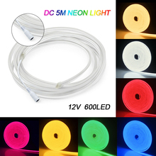 amagle usb battery powered flamingo neon lamp pink led strip wall hanging neon lights bedroom decoration marquee neon signs 5M Flexible 600 LED Strip Waterproof Neon Lights Silicone Tube DIY Auto LED Strip SMD2835 Street Decoration Lamp