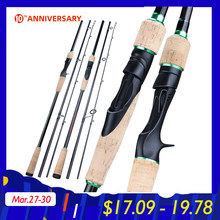 Sougayilang Baru 3 Bagian Portable Fishing Rod 1.8-2.4M Karbon Berputar Ultra Ringan/Casting Memancing Tiang EVA handle Tackle(China)