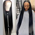 MEYA 30 32 дюйма 13X4 прямые парики из человеческих волос на сетке спереди, женские парики на сетке спереди, парик из Малайзии на прямой сетке, пред...