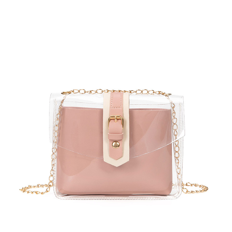 Casual Transparent PVC Jelly Shoulder Bags For Women 2019 Brand Travel Handbags Crossbody Mobile Phone Change Purse Ladies Girl