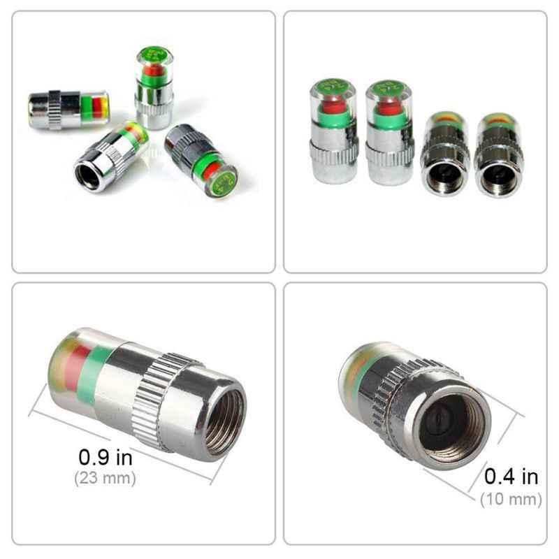 ONEWELL 4pcs/set 2.4 Bar 36 PSI Tire Pressure Monitor Pressure Gauge Cap Sensor Indicator Alert Monitoring Tools Kit