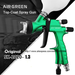 Image 4 - Hohe Qualität Spray Gun Gravity Spritzpistole 1,3mm Düse 600cc Kunststoff Topf Ideal Auto Malerei Werkzeug