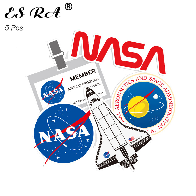 5 Pcs/Set 8~12cm Astronaut Space Flight Waterproof PVC Stickers Sets Laptop Pitcher Bottle Luggage Notebook Decorate Toys For Bo