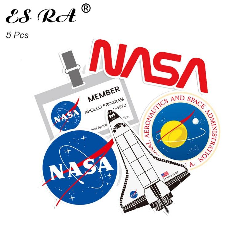 5 Pcs/Set 8~12cm Astronaut Space Flight Waterproof PVC Stickers Sets Laptop Pitcher Bottle Luggage Notebook Decorate Toys For Bo