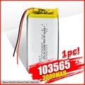 1/2/4 шт. 103565 3,7 V литий-полимерный аккумулятор 3000 мАч DIY мобильный аккумулятор питания зарядки аккумулятора сокровище для DVD gps камера PSP электр...