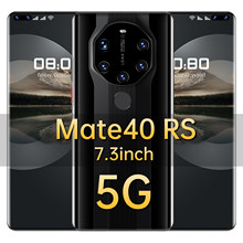 Global Version Mate40 RS 7.3 Inch Smartphone Android11 Deca Core 6800mAh 16+512GB 24+50MP Dual SIM Support Face ID Mobile Phone