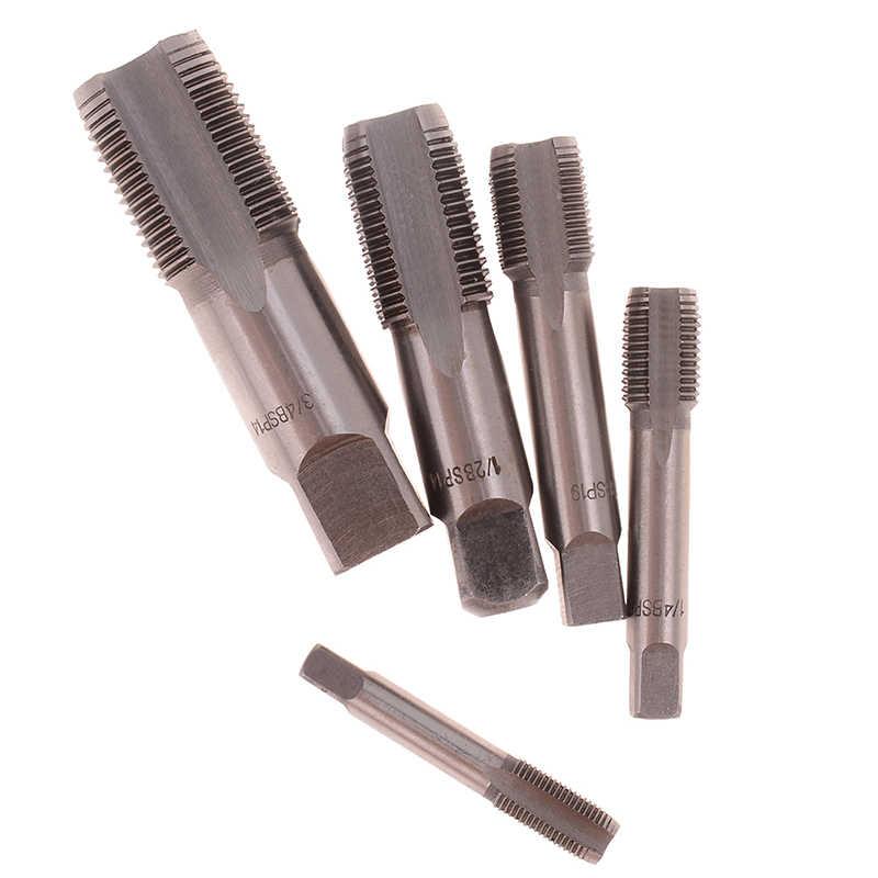 G1/8 1/4 hss atarraxamento da torneira da tubulação npt ferramentas de corte de rosca de metal