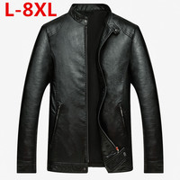 plus size 8XL Men's leather Jacket design Coat Men casual motorcycle leather jacket Mens veste en cuir jackets Sheepskin jacket