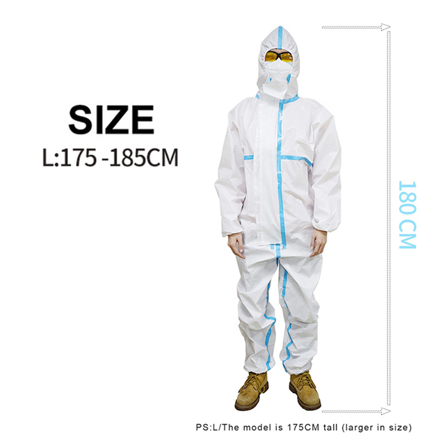 Protective Clothing Waterproof ppe suit Reusable Prevents dust Invasion Plastic Insulation Suit Washable and Reusable 4