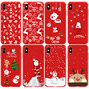 New Christmas Gift Case For iPhone 11 Pro Max Cases Red cartoon silicone For iPhone 7 8 Plus SE 2020 X XR XS 13 12 Pro Max Cover