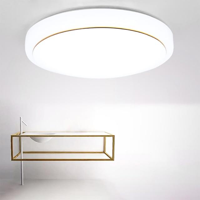 Фото 34 см круглый акриловый простой золотой нитью светодиодный потолочные