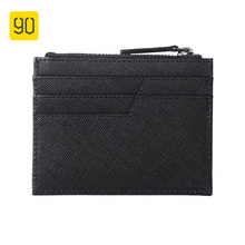 90FUN Top Layer Leather Coin Purse Light Business Wallet Multifuntion Waterproof Bag High Quality Bags